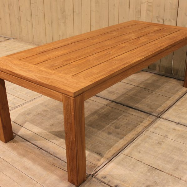 Cancun tafel 240x100 - natural teak 2